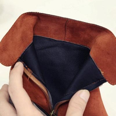 Chunky Heel Daily Tassel Zipper Elegant Boots_12