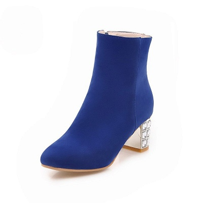 Chunky Heel Zipper Daily Pointed Toe Elegant Boots_3