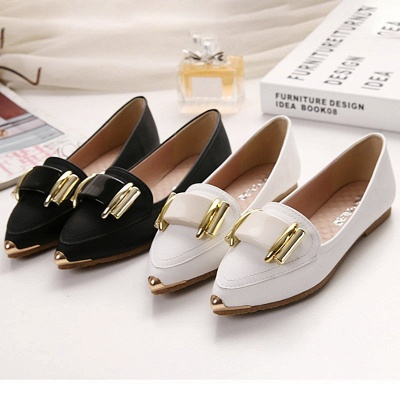 Casual Pointed Toe Flats_4