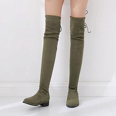 Suede Chunky Heel Buckle Boot_4