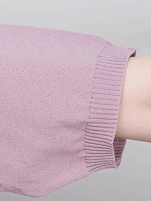 Sweater Shirt Collar Ice Yarn Knit Shift Daytime Knitwear_8