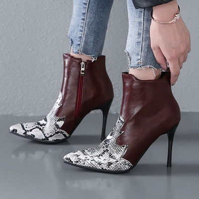 Zipper Daily Sexy Stiletto Heel Pointed Toe Boots_3