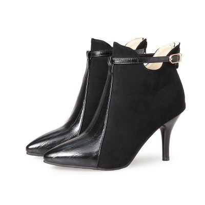 Buckle Stiletto Heel Daily Elegant Boots_2
