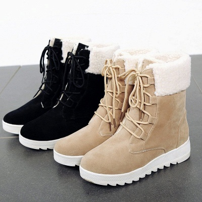 Winter Daily Wedge Heel Lace-up Suede Boot_7