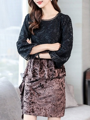 Casual Solid Batwing Sweater_6