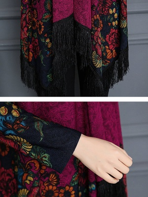 Floral Casual Long Sleeve Coat_8