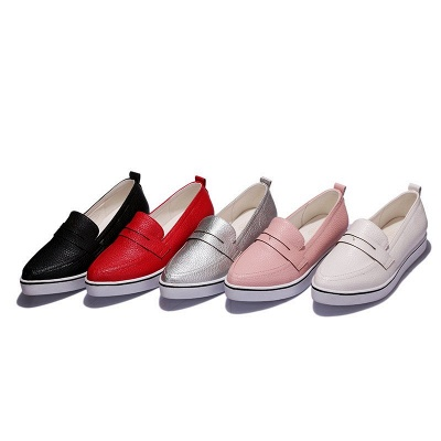 Casual  Pointed Toe Wedge Loafers_7