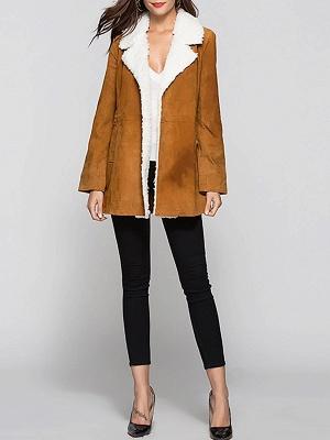 Pockets Casual Solid Long Sleeve Coat_8