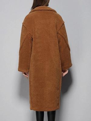 Long Sleeve Lapel Pockets Buttoned Coats_6