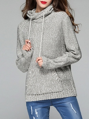 Paneled Sports & Outdoor Sheath Long Sleeve Sweater_4