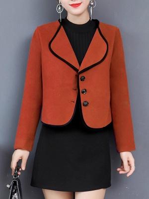 Long Sleeve Work Shawl Collar Coat_2