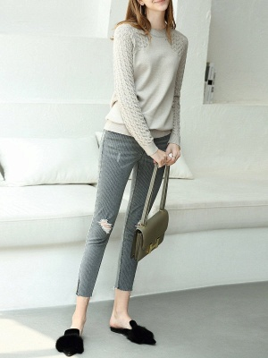 Casual Shift Long Sleeve Sweater_4