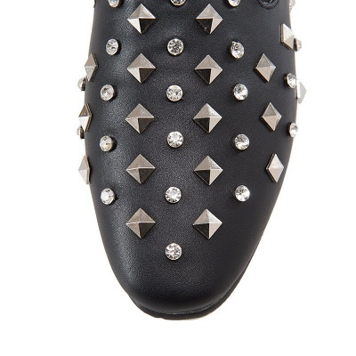 Rivet Daily Round Toe Chunky Heel Casual Loafers_11