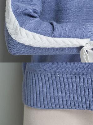Casual Shift Long Sleeve Paneled Sweater_10