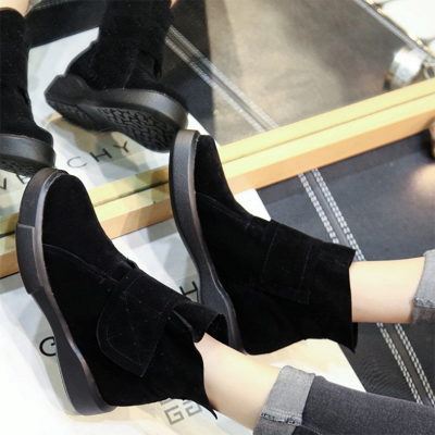 Flat Heel Round Toe Casual Middle Heel Boots_2