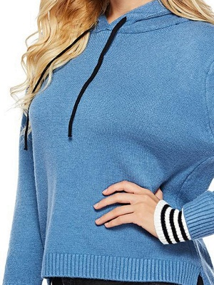 Long Sleeve Shift Casual Solid Sweater_10