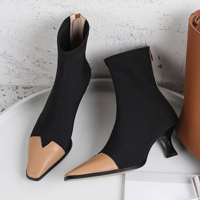 Zipper Leather Kitten Heel Boot_7