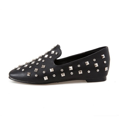 Rivet Daily Round Toe Chunky Heel Casual Loafers_10
