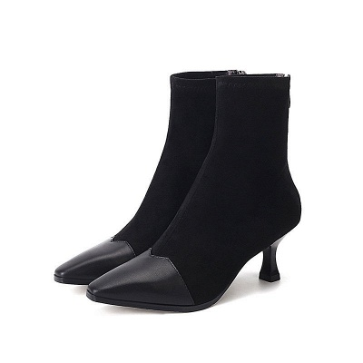 Zipper Cone Heel Daily Pointed Toe Elegant Boots_9