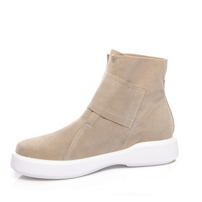 Flat Heel Round Toe Casual Middle Heel Boots_10