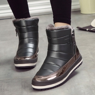 Wedge Heel Fall PU Daily Winter Boot_9