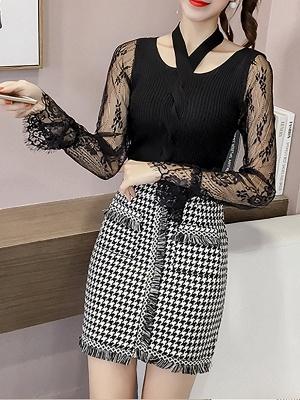 Plain Casual Long Sleeve Sweater_4