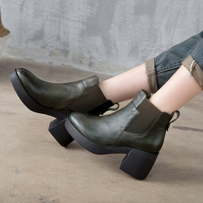 Cowhide Leather Platform Boot_6