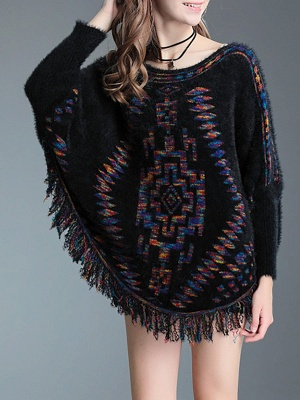 Crew Neck Casual Batwing Sweater_2
