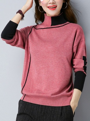Shift Long Sleeve Casual Sweater_1