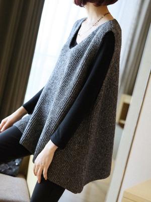 Shift V Neck Sleeveless Sweater_6