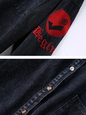 Long Sleeve Shift Casual Pockets Coat_8