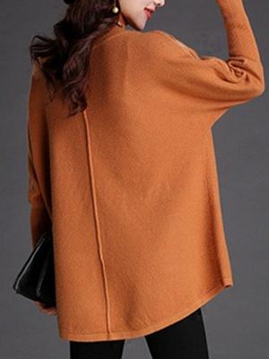 Long Sleeve Turtleneck Wool Sweater_3