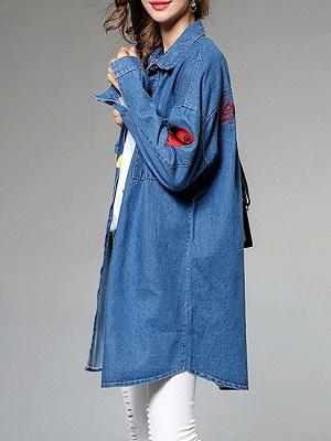 Long Sleeve Shift Casual Pockets Coat_6
