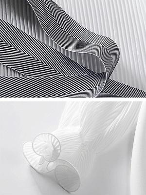 Frill Sleeve Casual Asymmetrical V neck Ruffled Folds Coats_7
