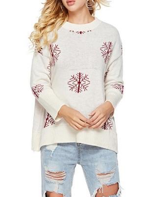 Long Sleeve Printed Casual Sweater_7