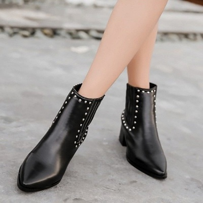 Chunky Heel Daily Pointed Toe Elegant Boots_2