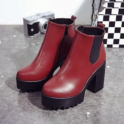 Daily Chunky Heel Round Toe Elegant Boots_8