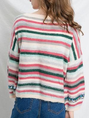 Multicolor Printed Casual Shift Sweater_3