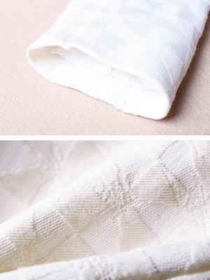 White Beaded 3/4 Sleeve Summer Solid Coat_7