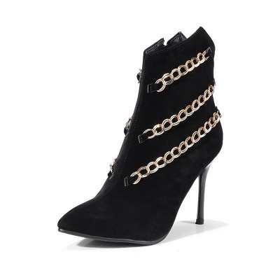 High Heel Suede Chain Boot_6
