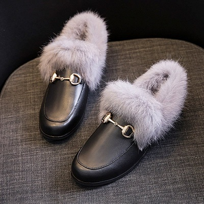 Chunky Heel Round Toe Casual Loafers_7