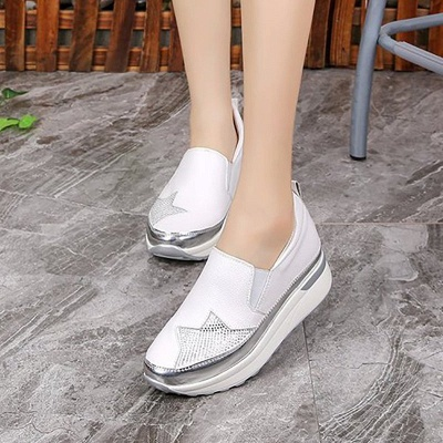 Daily Round Toe Wedge Heel PU Loafers_5