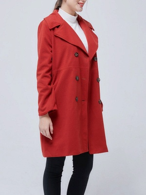 Shawl Collar Long Sleeve Casual Coat_8