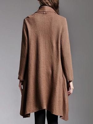 Asymmetric Long Sleeve Casual Coat_4