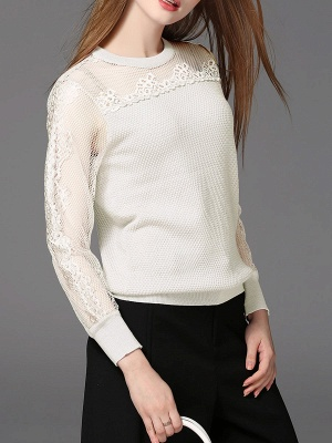 Long Sleeve Casual Shift Sweater_1