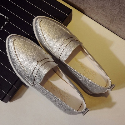 Casual  Pointed Toe Wedge Loafers_13