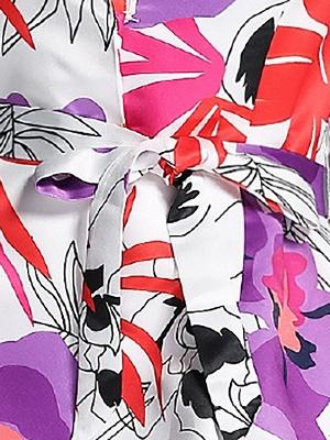 White Long Sleeve Lapel A-line Pockets Coat_6