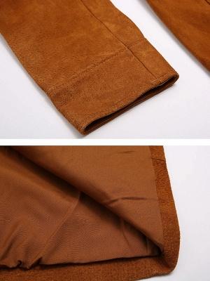 Pockets Casual Solid Long Sleeve Coat_7