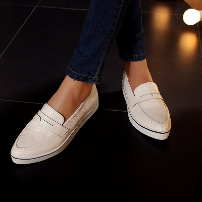 Casual  Pointed Toe Wedge Loafers_2