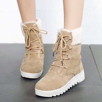 Winter Daily Wedge Heel Lace-up Suede Boot_5